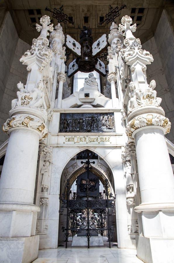 Sarcofago di Christopher Columbus in Santo Domingo fotografia stock