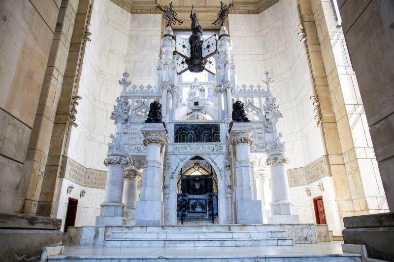 Sarcofago di Christopher Columbus in Santo Domingo fotografia stock libera da diritti