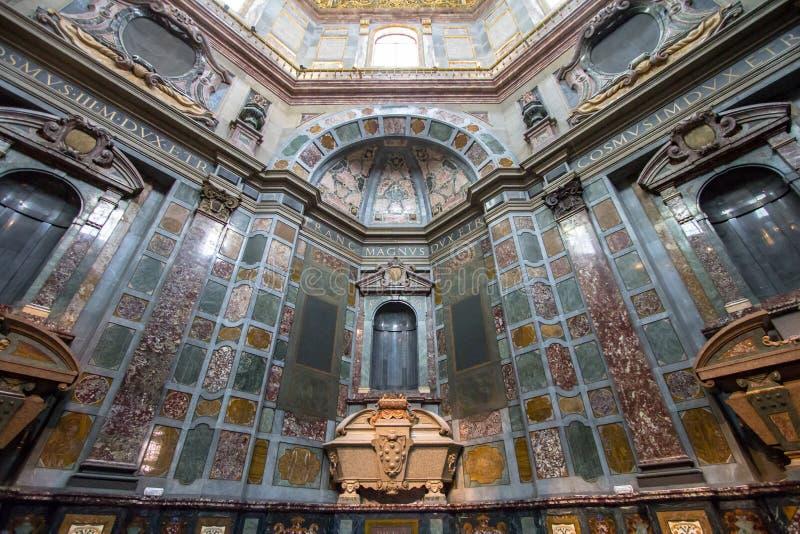 Sarcofago di Cosimo II nella cappella di Medici, Firenze, Italia fotografie stock