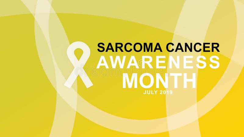 Sarcoma cancer awareness month in July poster, card, and banner campaign. Design illustration stock illustration