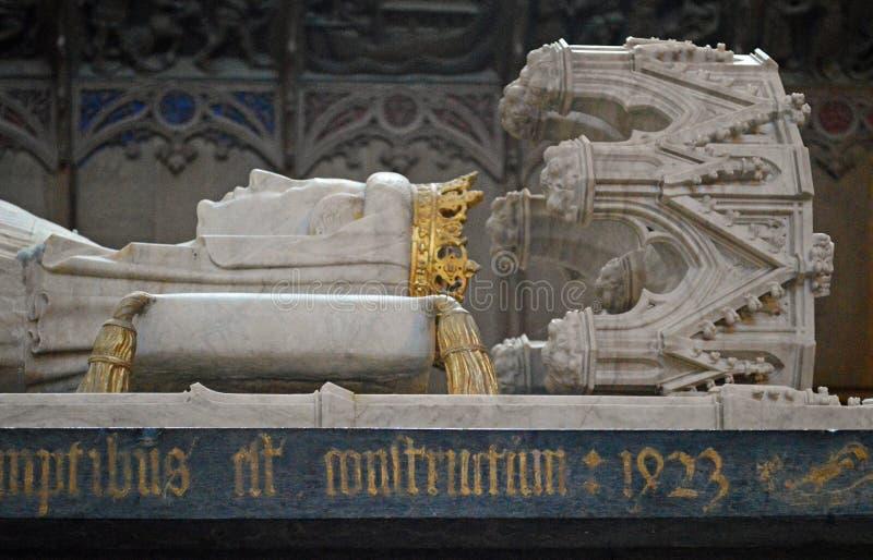 Sarcophage de petit groupe de la Reine Margrethe I photo stock