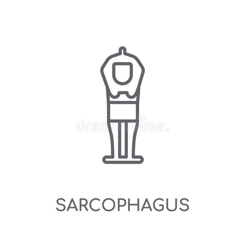 Sarcophagus linear icon. Modern outline Sarcophagus logo concept vector illustration