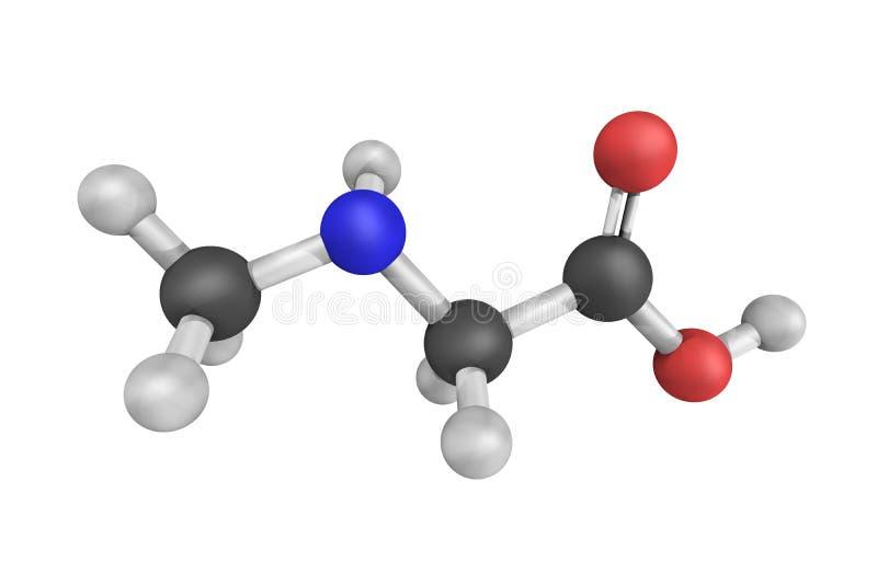 Sarcosine, die in de productie van biologisch afbreekbare capillair-actieve stoffen en t wordt gebruikt royalty-vrije stock foto