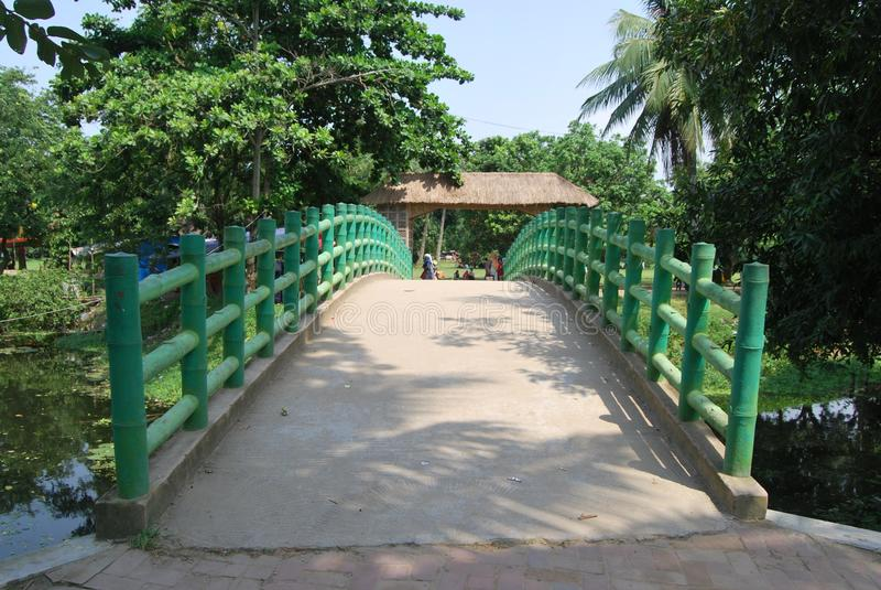 Sardar Bari geroepen Isa Khan ` s Bari in Sonargaon stock afbeelding