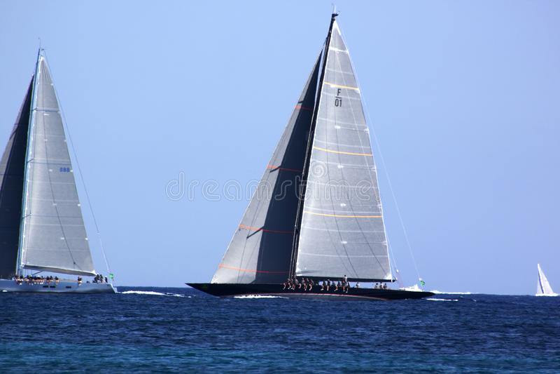 Sardegna, sailing race stock photo