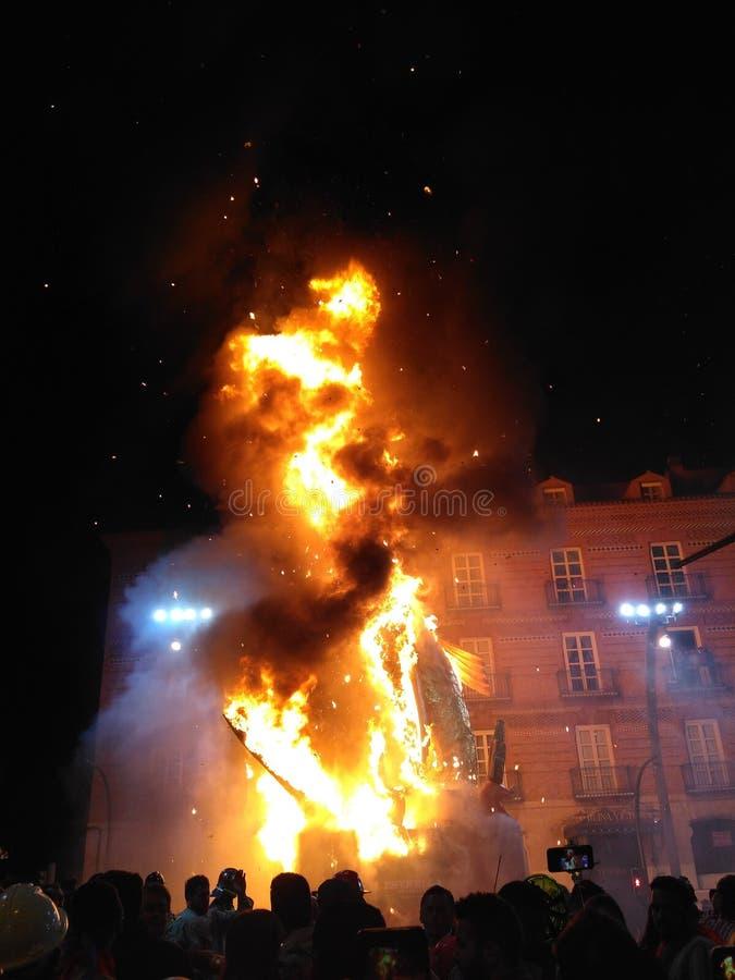 Sardina bruciante fotografie stock