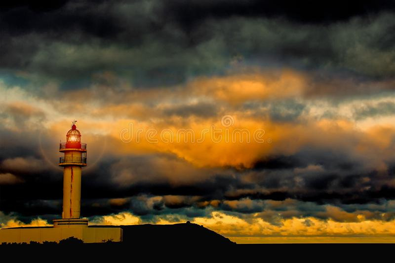 Lighthouse in gran  canaria royalty free stock photography