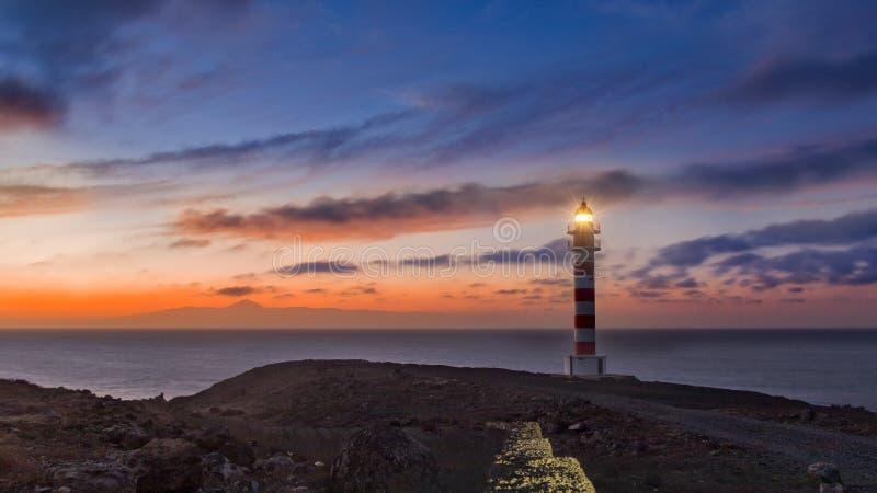 Sardina lighthouse, galera, Gran canaria stock images