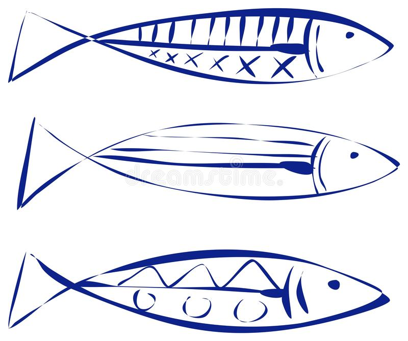 Sardine illustrazione di stock