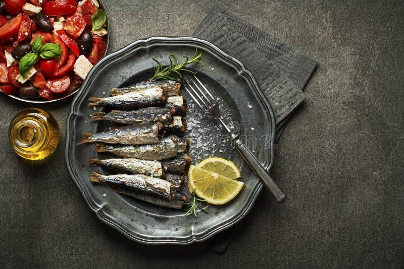 sardines royaltyfria bilder