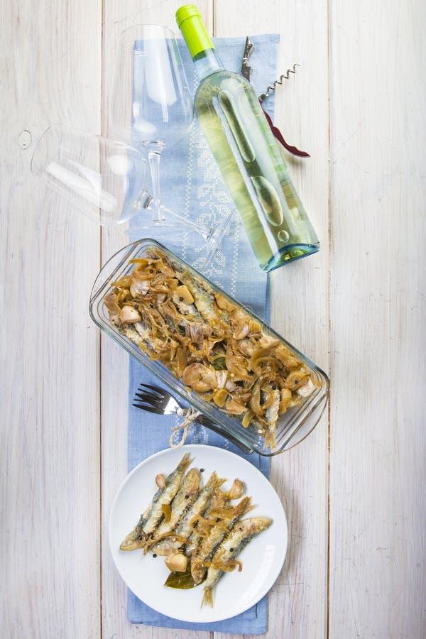 Sardines en marinade photo stock