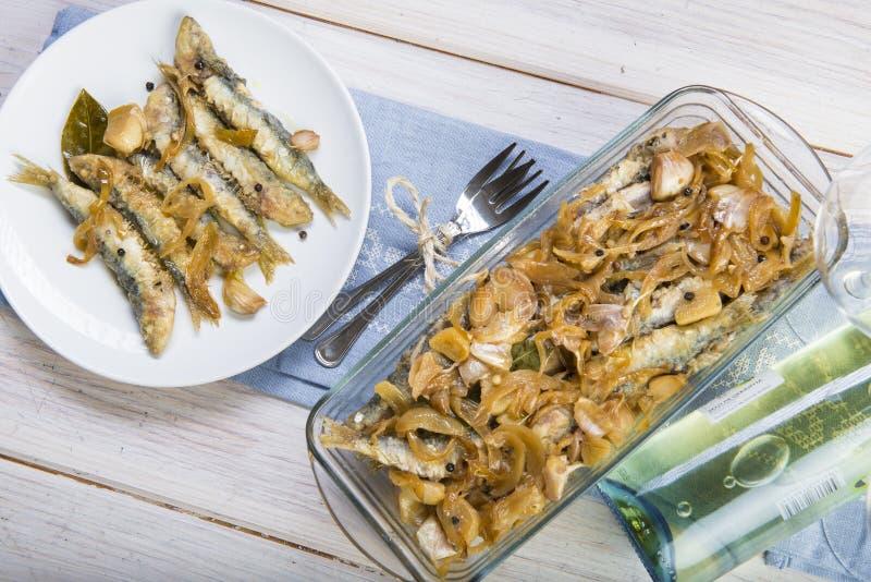 Sardines en marinade photos libres de droits