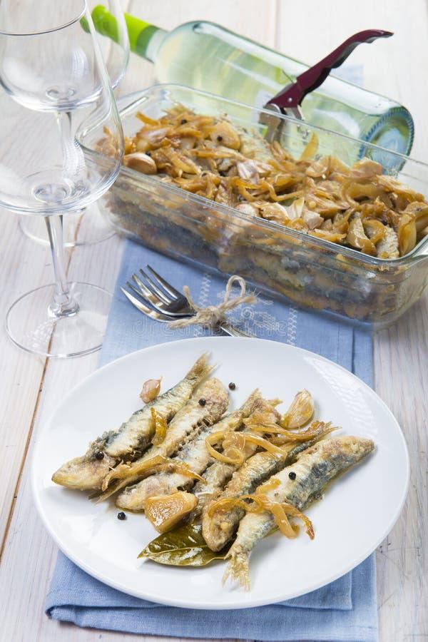 Sardines en marinade photo libre de droits