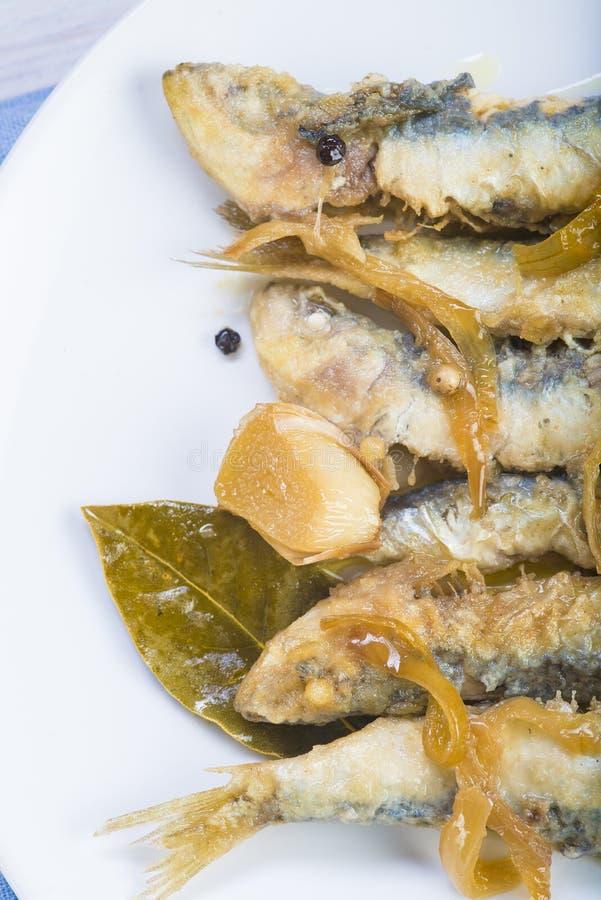 Sardines en marinade photographie stock