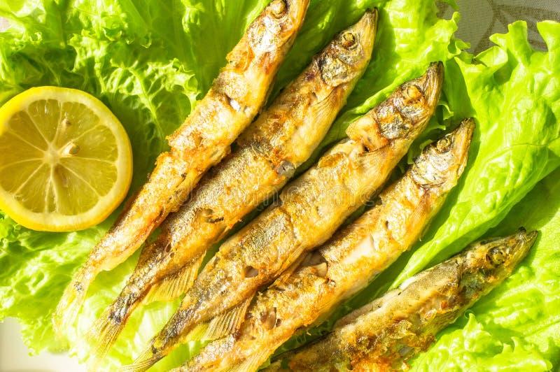 Sardines grillées images libres de droits