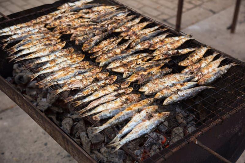 Sardines grillées photographie stock libre de droits