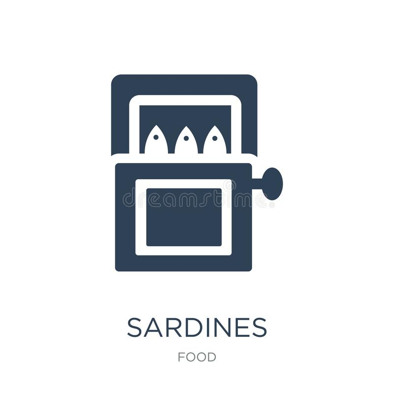 sardines icon in trendy design style. sardines icon isolated on white background. sardines vector icon simple and modern flat stock illustration