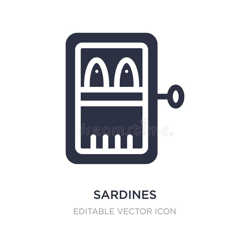 sardines icon on white background. Simple element illustration from Food concept royalty free illustration