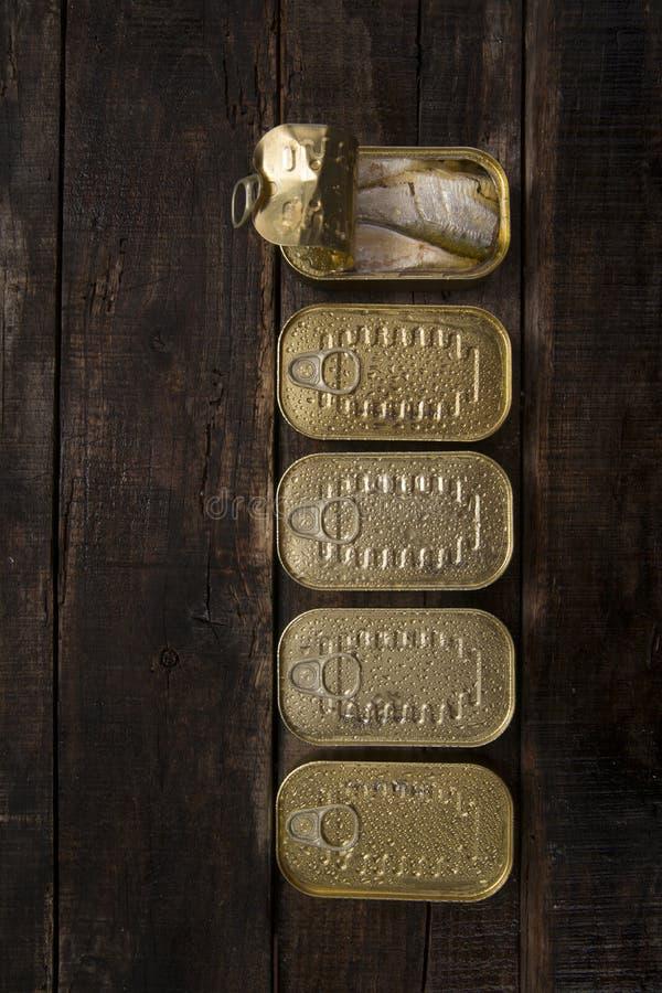sardines på burk arkivbilder