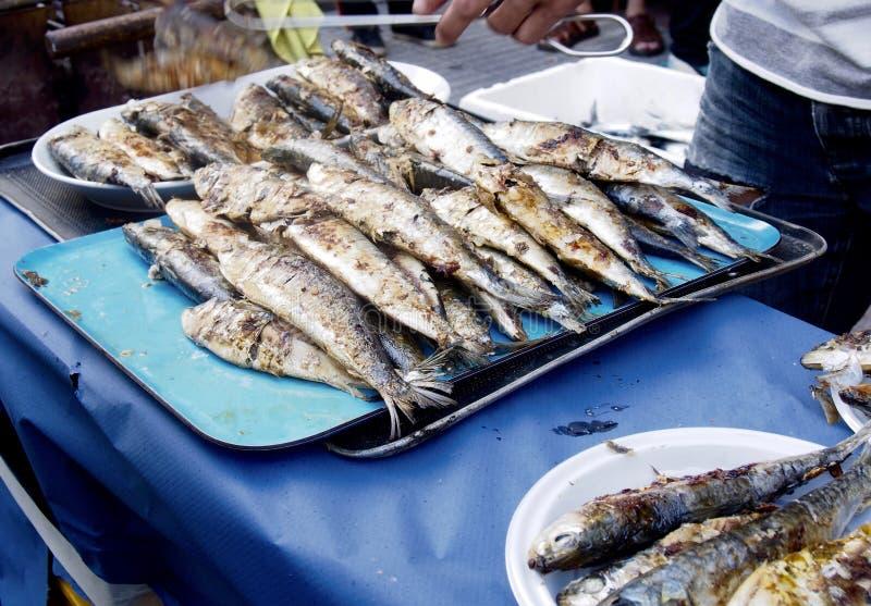 Sardines rôties photographie stock
