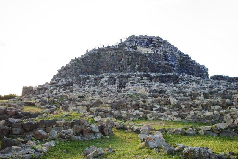 Sardinia. Impressive complex nuraghe of Barumini stock photos