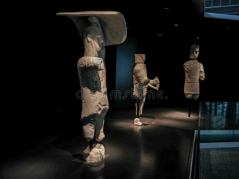 Sardinia. Archeological heritage. The Warriors of Monte Prama royalty free stock image