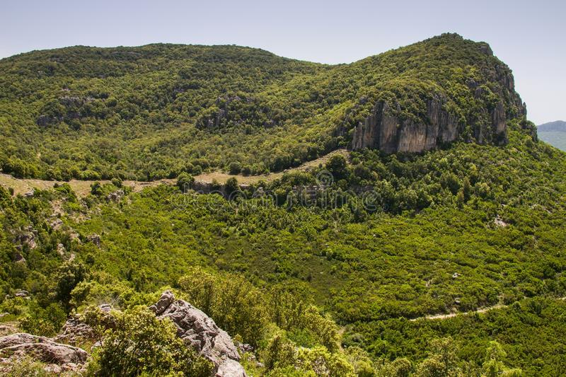 Sardinia bergsikt royaltyfri fotografi