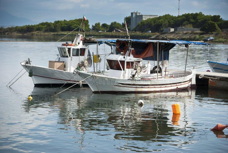 Sardinia. Boats stock images