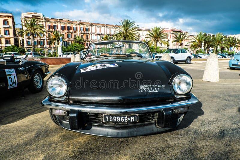 Coppa gentlemen sardi, cars exibition, Triumph Spitfire 1500. 05-13-2018, Sardinia, Cagliari harbor, Coppa gentlemen sardi, cars exibition, Triumph Spitfire 1500 stock images