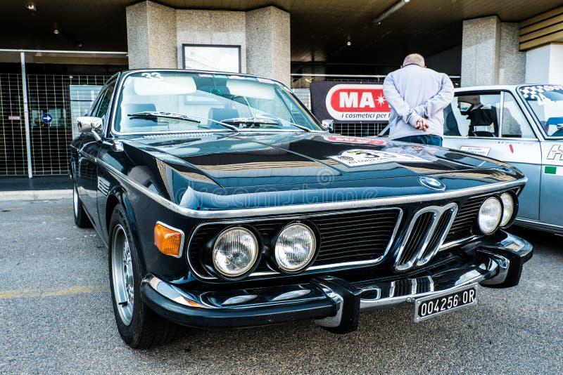 Coppa gentlemen sardi, cars exibition, BMW 3.0 CSI. 05-13-2018, Sardinia in Cagliari harbor, Coppa gentlemen sardi is a cars exibition, BMW 3.0 CSI stock image