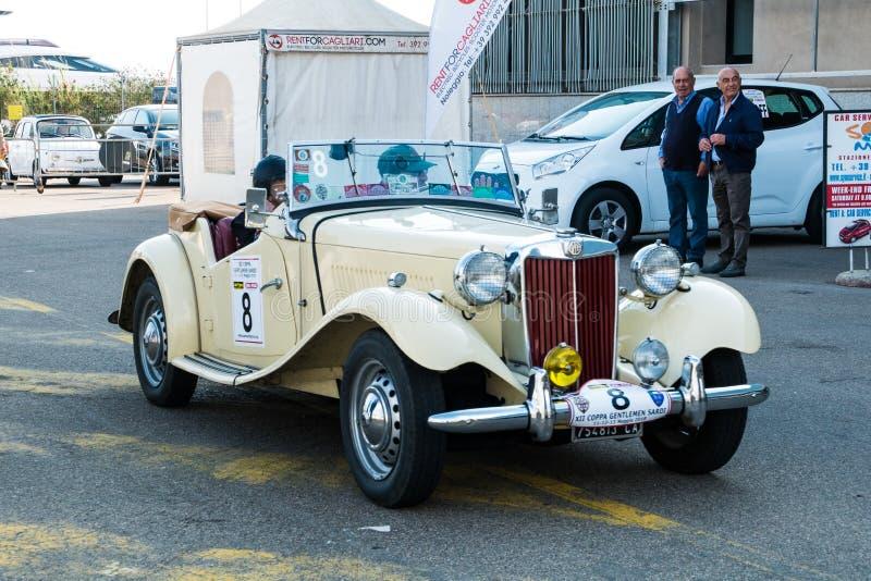 Coppa gentlemen sardi, cars exibition, MG T-Type. 05-13-2018, Sardinia, Cagliari harbor, Coppa gentlemen sardi, cars exibition, MG T-Type royalty free stock photo