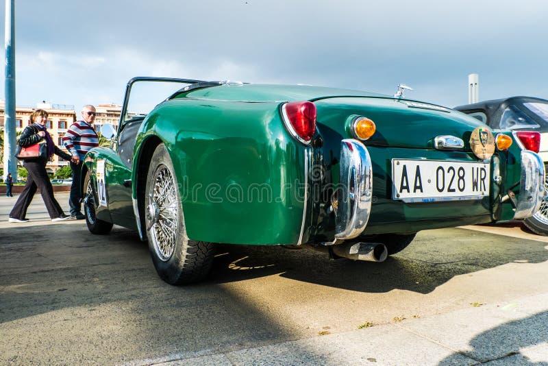 Coppa gentlemen sardi, cars exibition, Triumph TR3. 05-13-2018, Sardinia, Cagliari harbor, Coppa gentlemen sardi, cars exibition, Triumph TR3 royalty free stock images