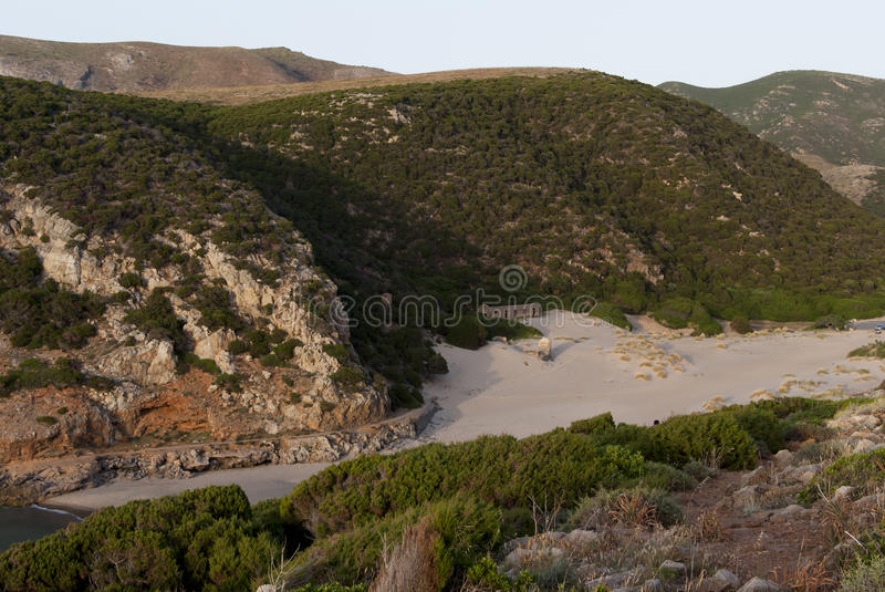 Download Sardinia: Cala Domestica stock photo. Image of hills - 25315304