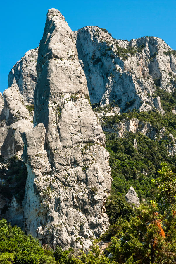 Sardinia, Cala Goloritzè, Agugliastra zdjęcia stock