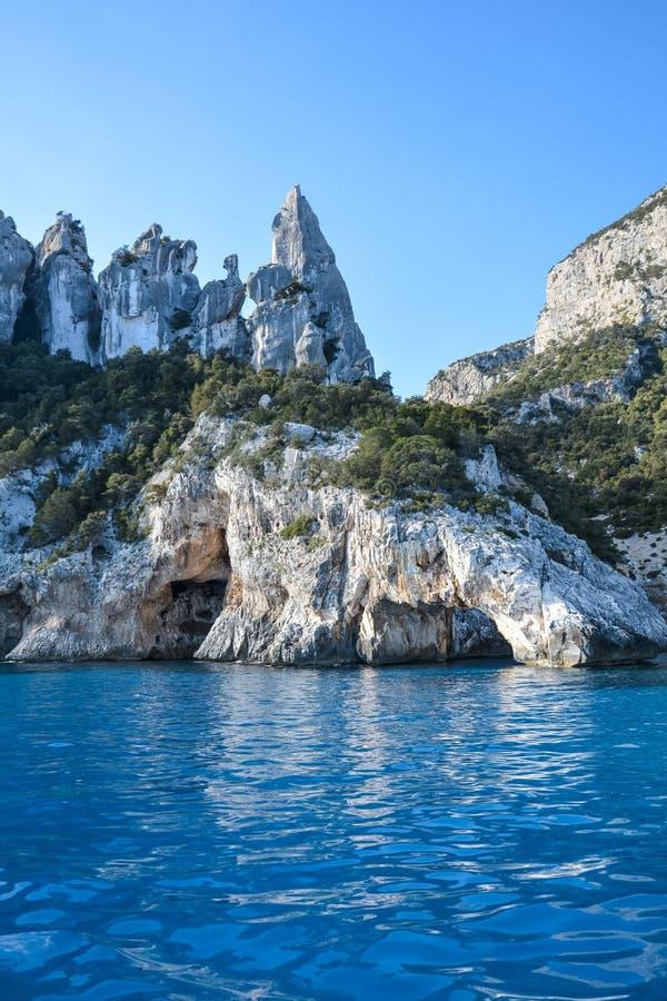 Sardinia Cala Goloritze plaża zdjęcie royalty free