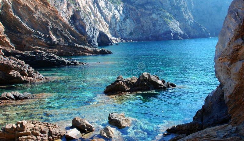 Sardinia - canal grandioso imagem de stock royalty free