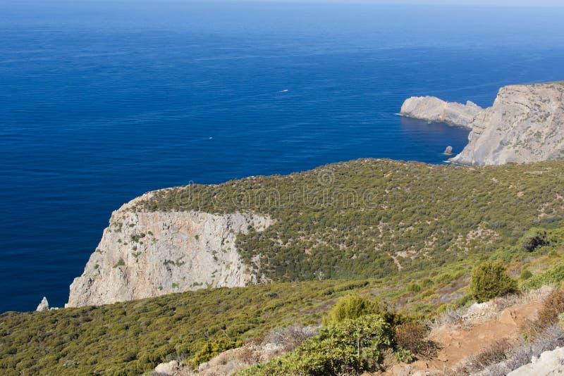 Sardinia.Canalgrande cliffs stock photo