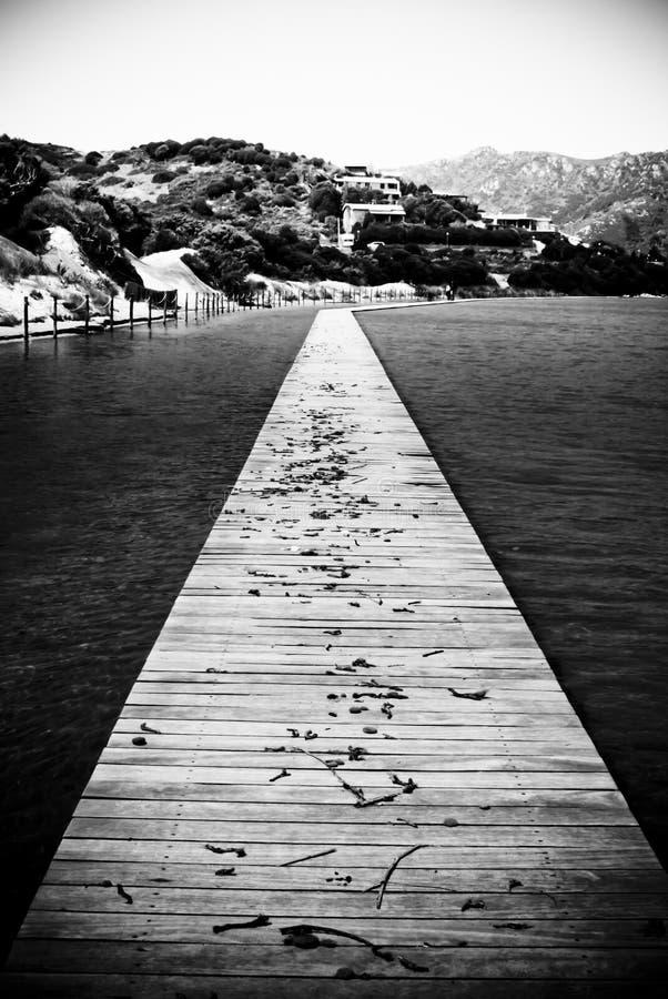 Sardinia. Chia Catwalk royalty free stock images