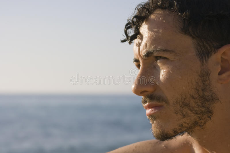 sardinia för stranditaly man barn arkivfoton