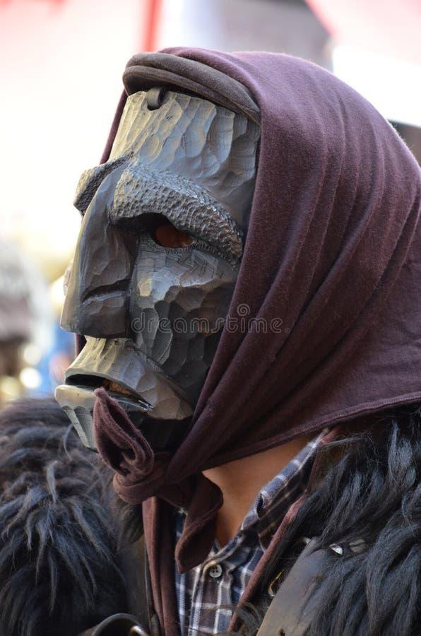 Sardinia, Itália: Mamuthones imagem de stock royalty free
