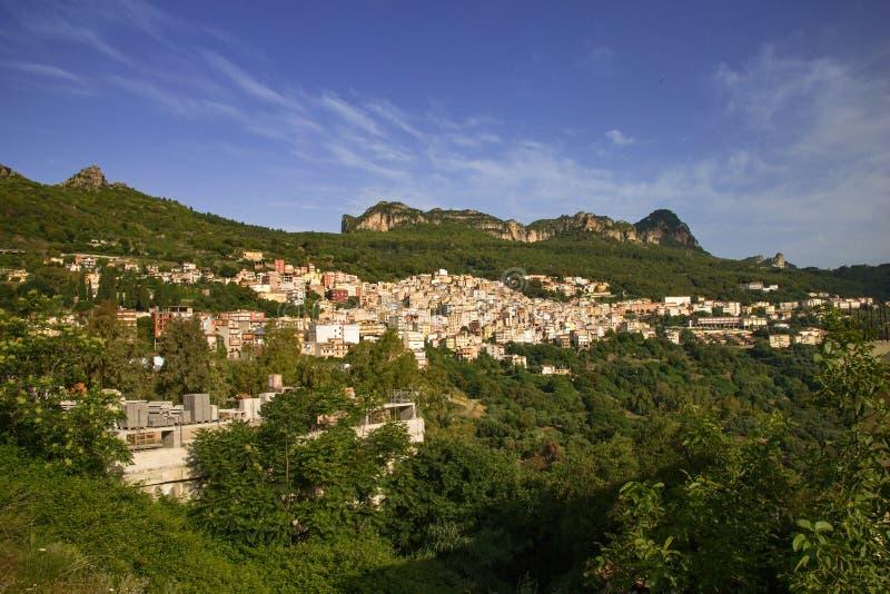 Sardinia Jerzu no final da manhã da mola fotos de stock royalty free