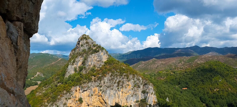 Sardinia landscape. Mountain landscape around Domusnovas in Sardinia, Italy stock images