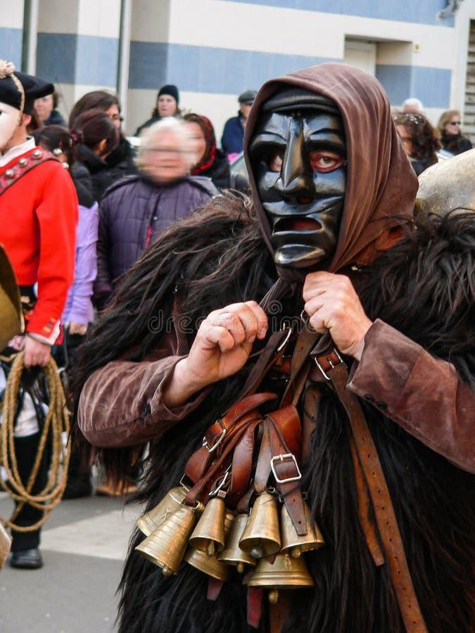 sardinia Mamoiada Carnaval imagens de stock