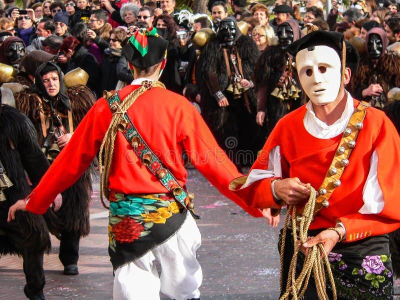 sardinia Mamoiada Karneval royaltyfria bilder