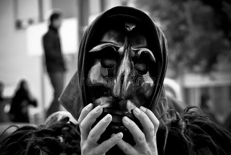 Sardinia. the mask of Mamuthone royalty free stock image