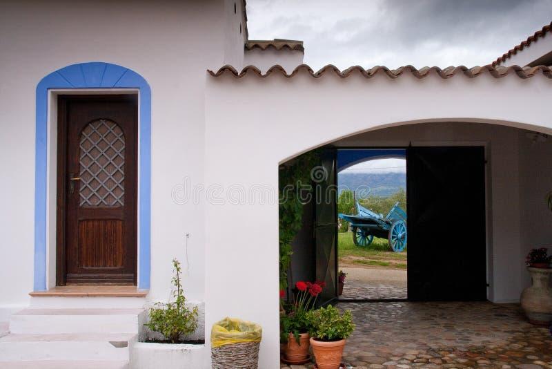 Sardinia between mountains and sea - Riding mountain bike stock photography