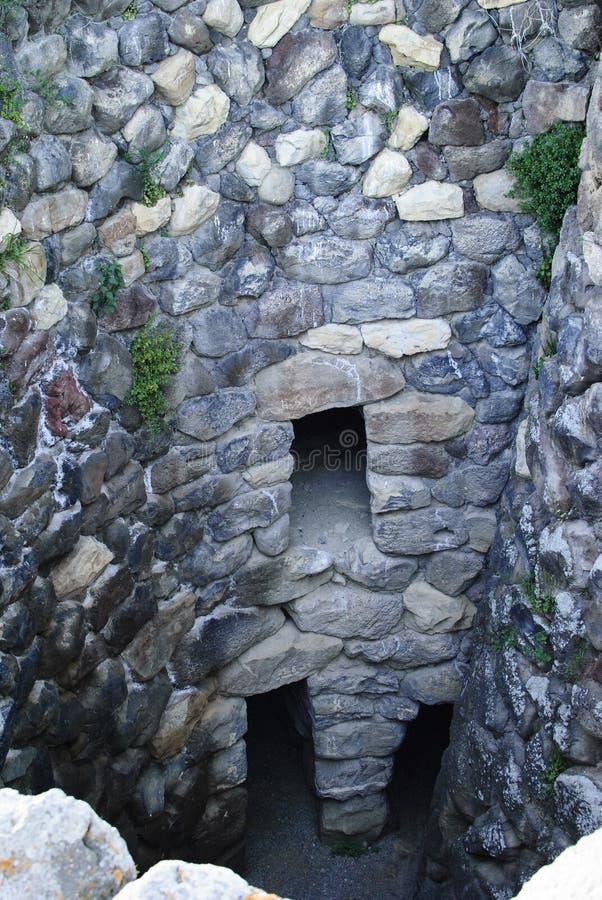 Sardinia. Nuraghe wnętrze obraz royalty free