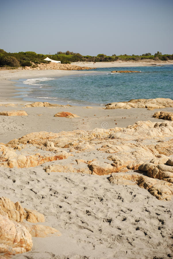 Sardinia. Opustoszała plaża obrazy stock