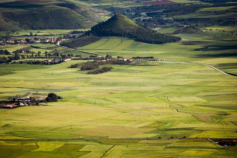 Sardinia. The Plain of Marmilla stock photography