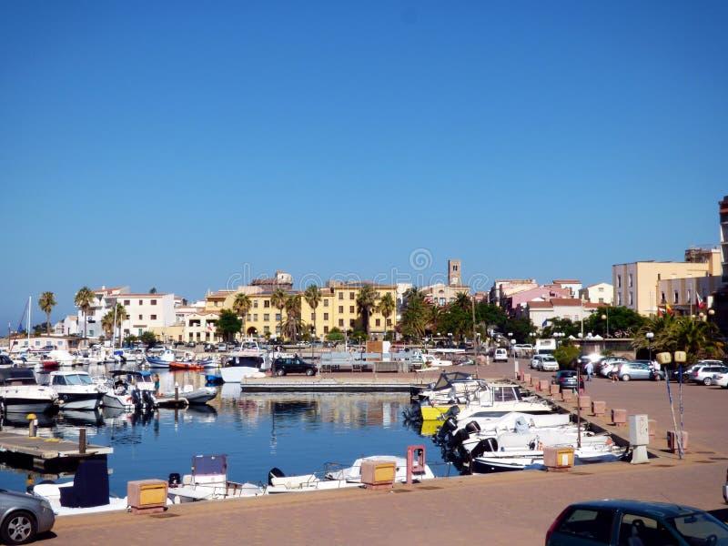 Italy, Sardinia, Portoscuso, view of the marine port royalty free stock image